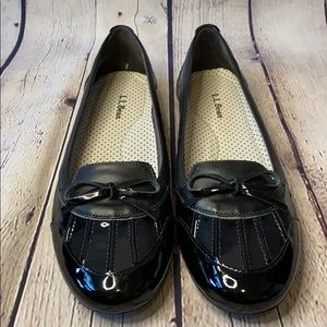 L.L. Bean Duck rain ballet flats black padded sole